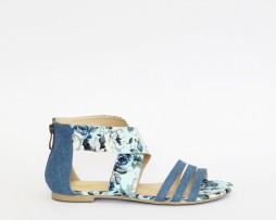 Kanabis blue floral sandals
