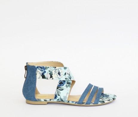 Kanabis blue floral sandals