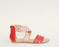 Kanabis red floral sandals