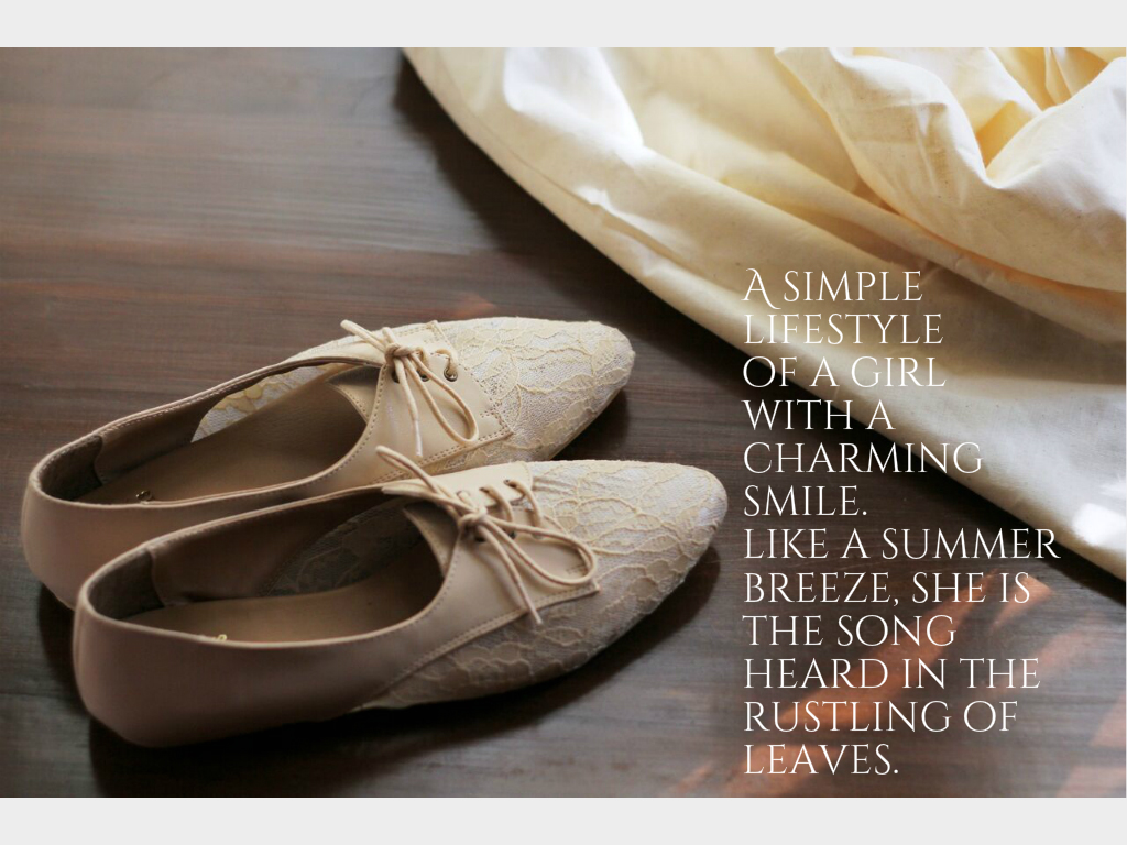 Airy Fairy beige lacy brogues