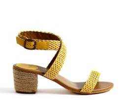 Kanabis Braided Boho Sandals Yellow brick sandals