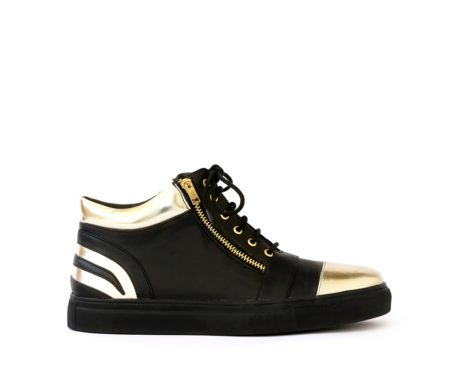black gold sneakers