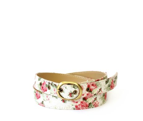 Floral canvas belt
