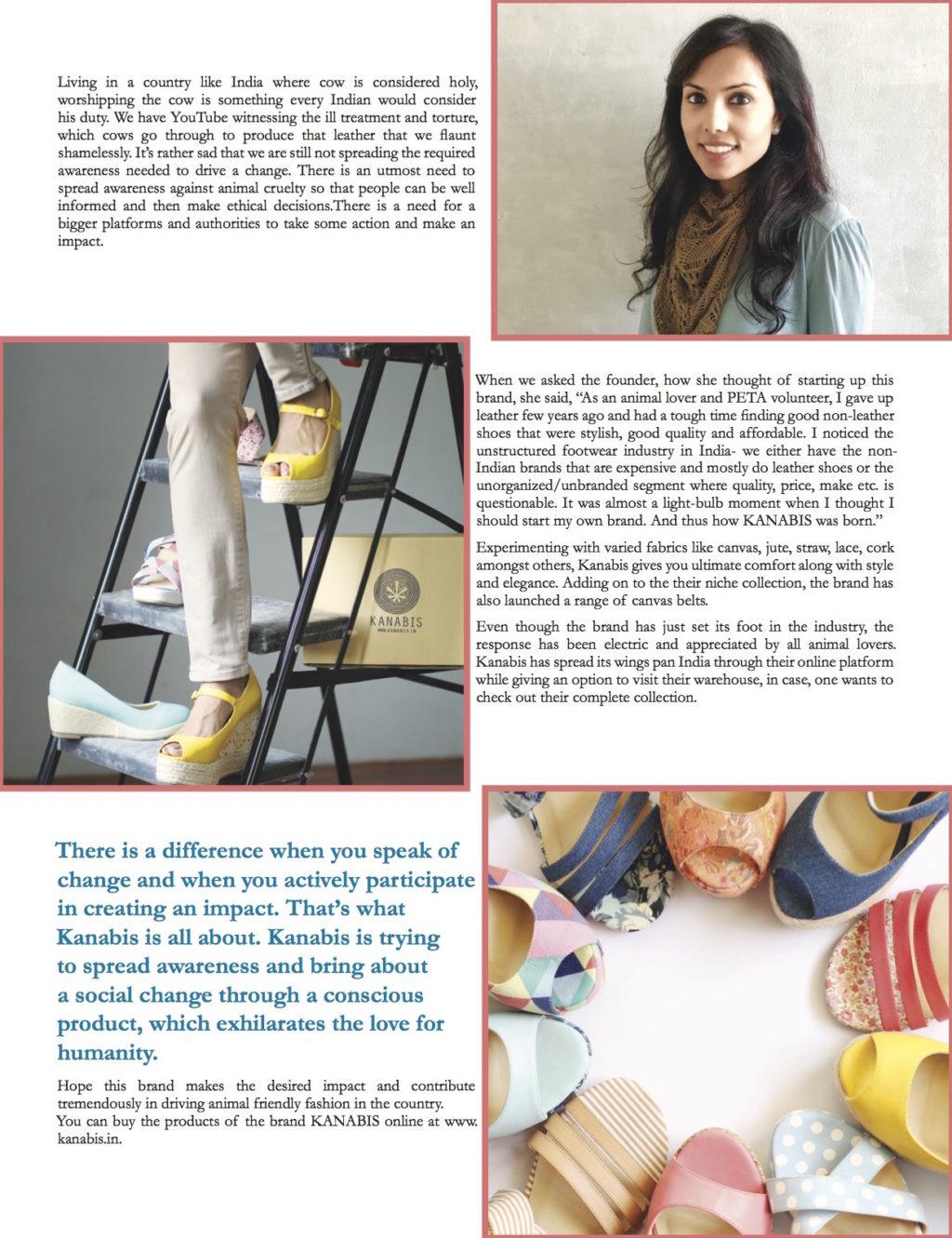 Kanabis featured in Delhiites magazine