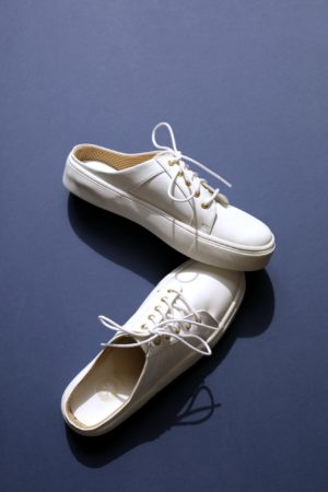 Open back sneaker white