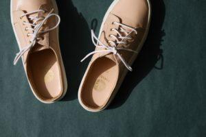Open back sneaker nude
