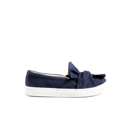 Be my bow- denim bow sneakers