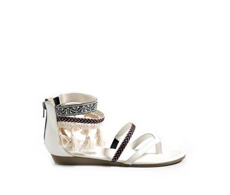 Tassel Tales Sandals White