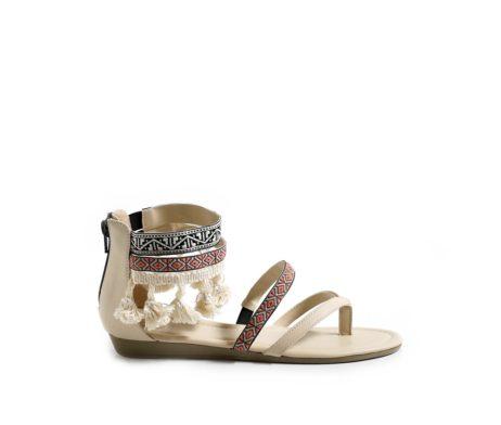 Tassel Tales beige sandals