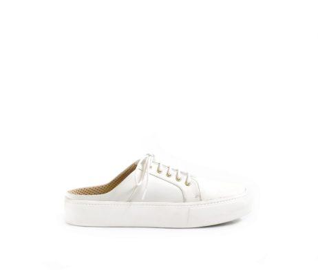 Open back white sneaker