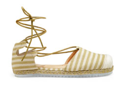 Kanabis String & Stripes Beige Tie-Up Bellies