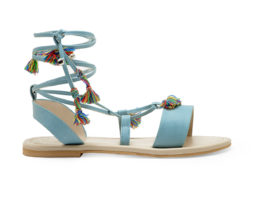 Kanabis Gypsie Girl Blue Tassel Sandals
