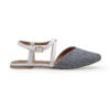 Kanabis Grey Denim Cross Strap Belly Sandals
