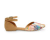 Kanabis Kaleidoscope Multicoloured cross strap sandals