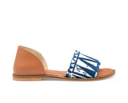 Kanabis Tan Tribe Blue & Tan Slip On Flats