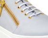 Kanabis Golden Zipped Grey Sneakers