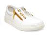 Kanabis Golden Zipped White Satin Lace Sneakers