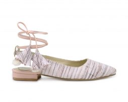 Kanabis ikhat ballerina with lace up strings