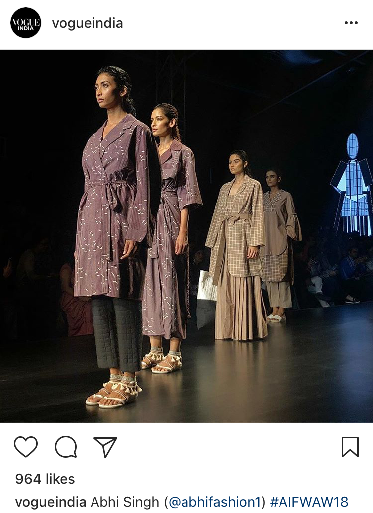AIFW Vogue Insta Page