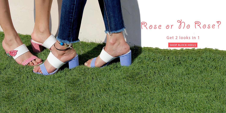 Kanabis new arrivals gingham heels