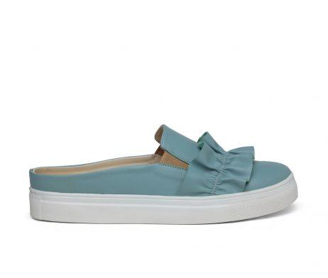 Kanabis open back minty blue frill women sneakers
